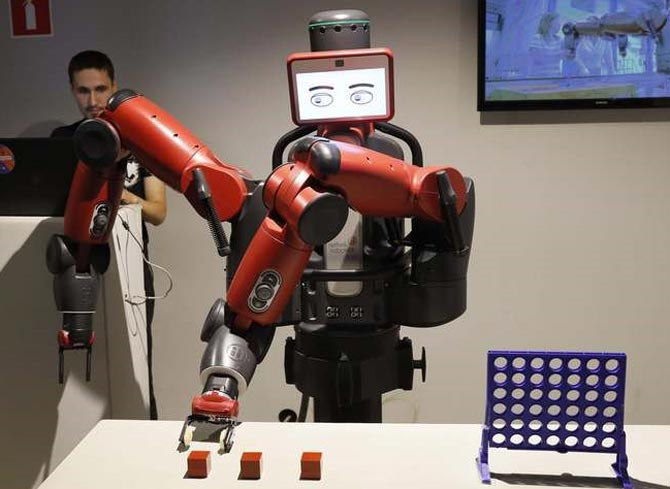 Baxter the robot backs France to beat Belgium in World Cup semi-final