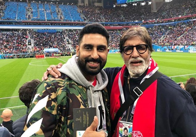 Spotted! Bachchans at FIFA World Cup