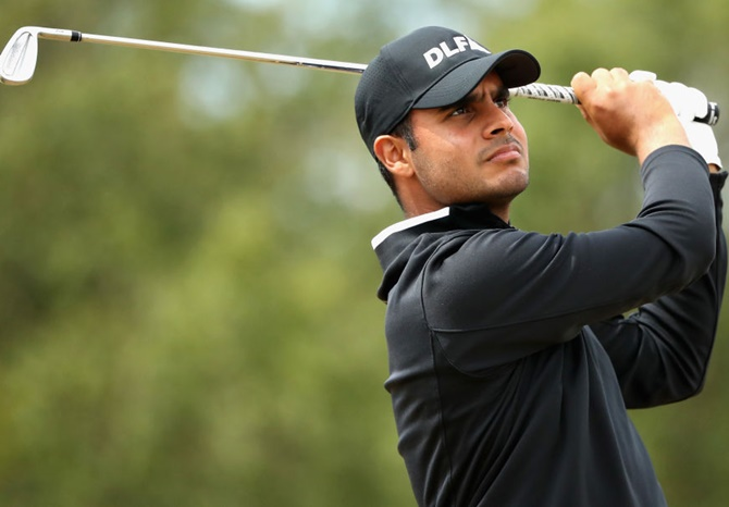 Rediff Sports - Cricket, Indian hockey, Tennis, Football, Chess, Golf - Shubhankar Sharma determined to find success in PGA Tour