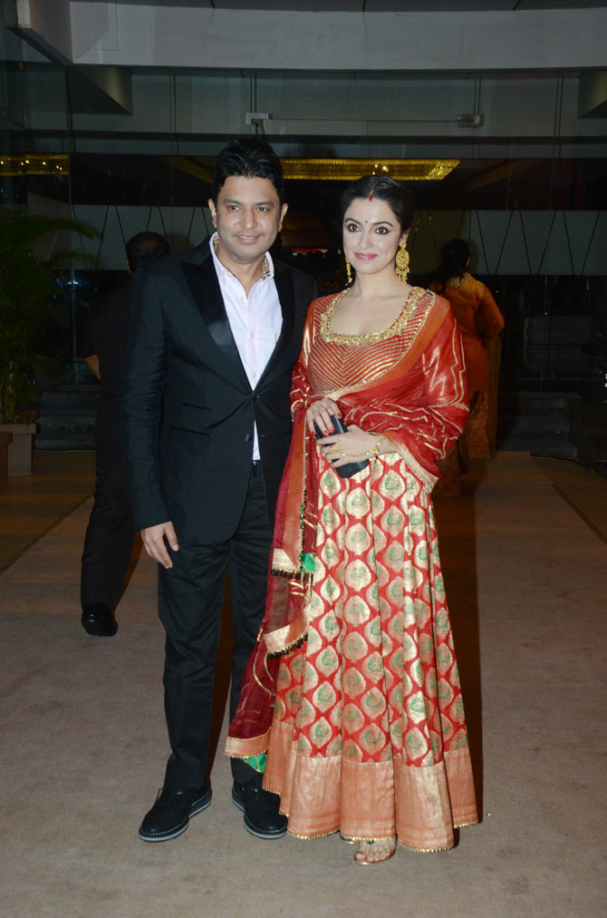 Bhushan Kumar and his wife Divya Khosla