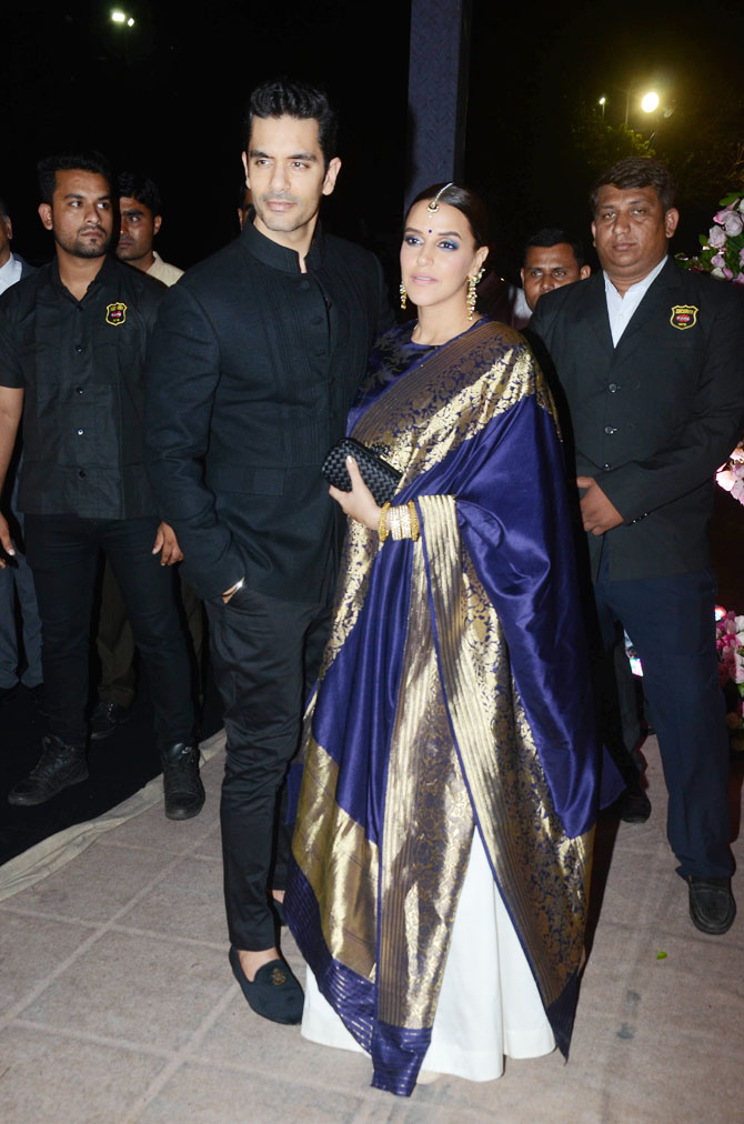 Actor Angad Bedi and wife Neha Dhupia