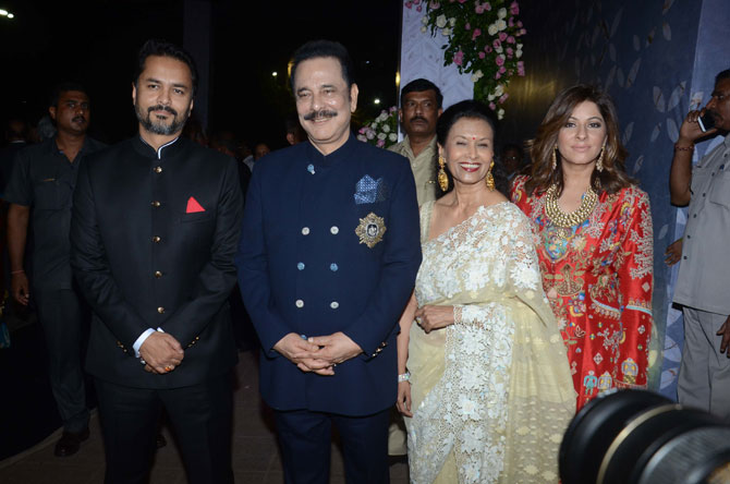 Subroto Roy and his wife were among the invitees