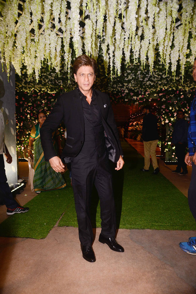 Superstar Shah Rukh Khan arrives