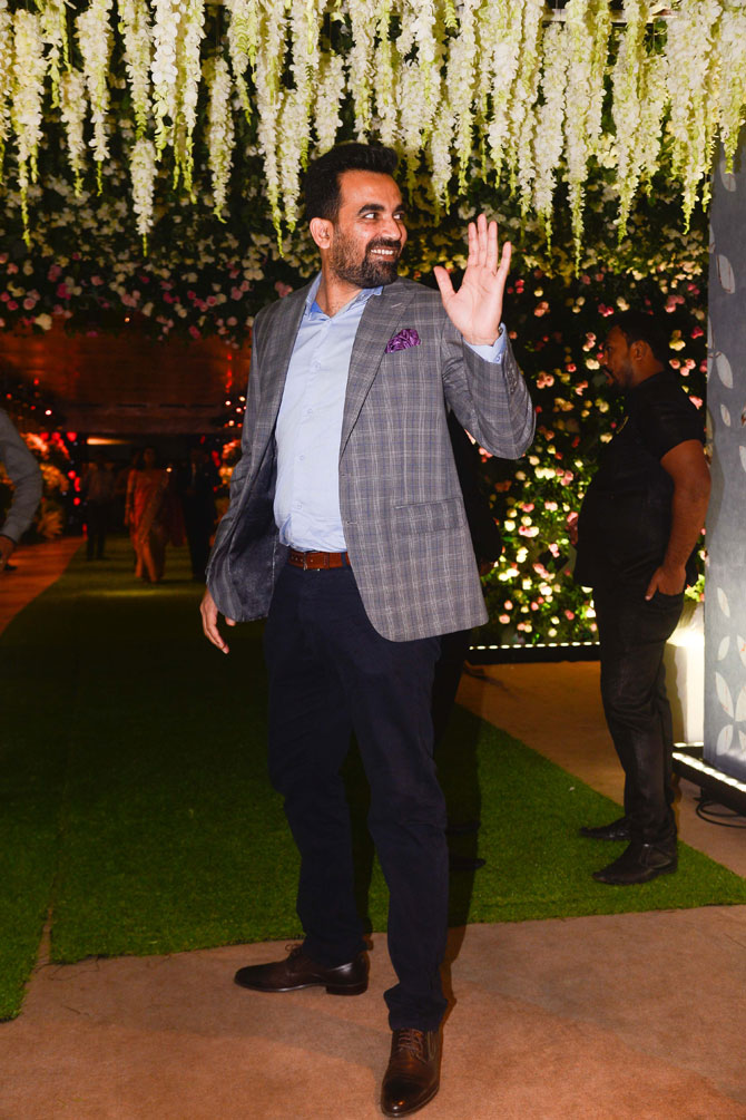 Former India cricketer Zaheer Khan was spotted sans wife Sagarika Ghatge