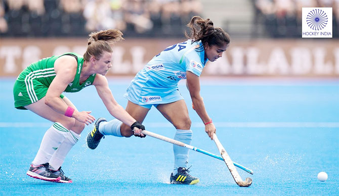 India's Neha Goyal was impressive against Ireland