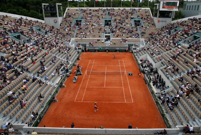 Tickets for the French Open would be sold around the end of the month or at the beginning of July