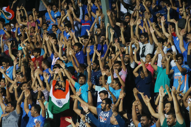 Indian football fans came in their numbers on Thursday
