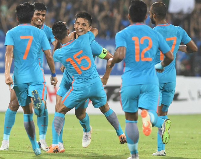 Chhetri helps India beat Kenya to clinch Intercontinental Cup