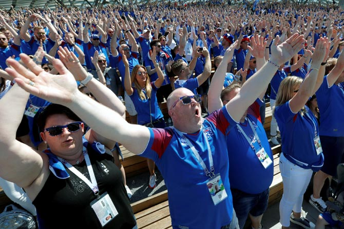 PHOTOS: Iceland fans warm up with Viking clap