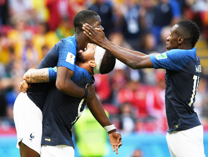 FIFA WC PIX: Pogba earns France 2-1 win as technology plays its part