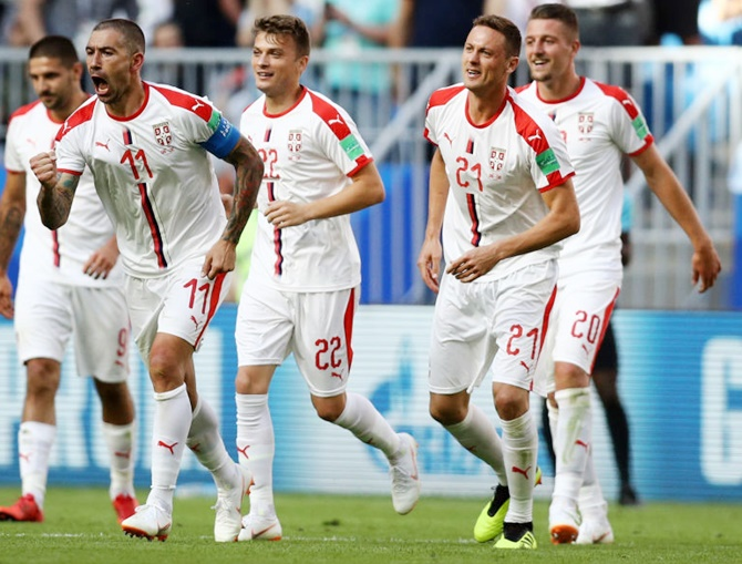 World Cup: Captain Kolarov fires Serbia to victory over Costa Rica