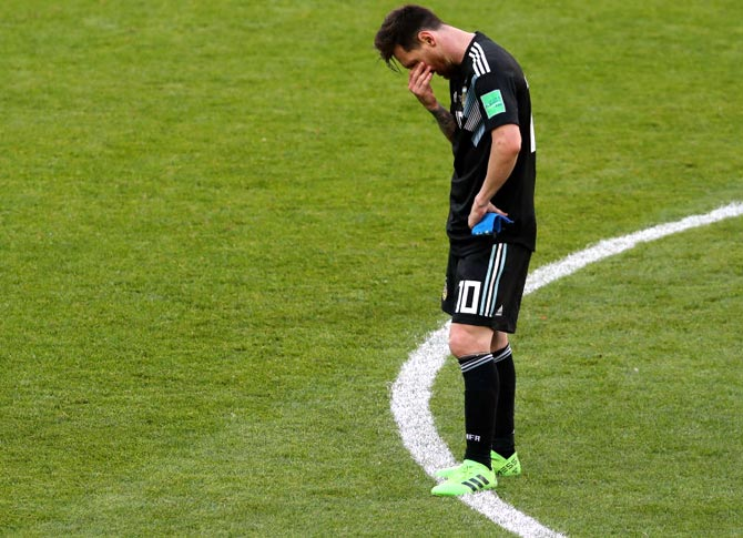 Messi's penalty miss not to blame for Iceland draw: Maradona