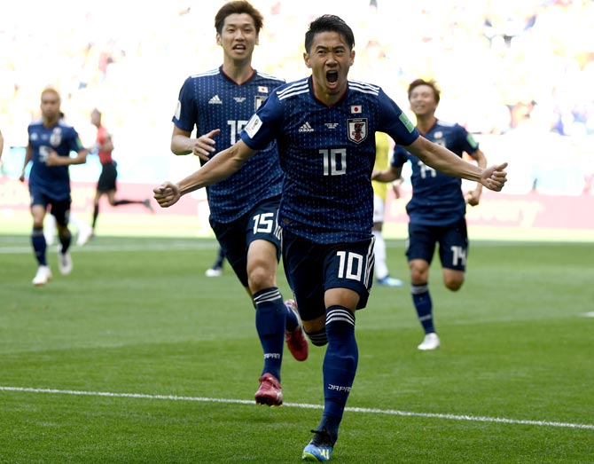 World Cup PHOTOS: Japan sink 10-man Colombia in historic win for Asia
