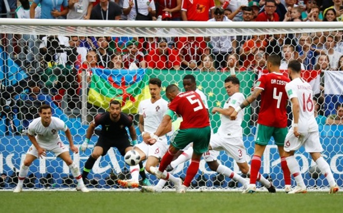 Ponderous Portugal spared embarrassment by Morocco's profligacy