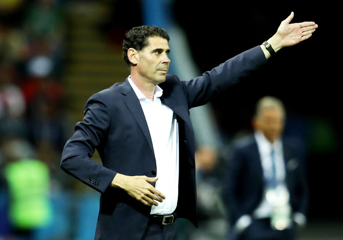 Spain's head coach Fernando Hierro
