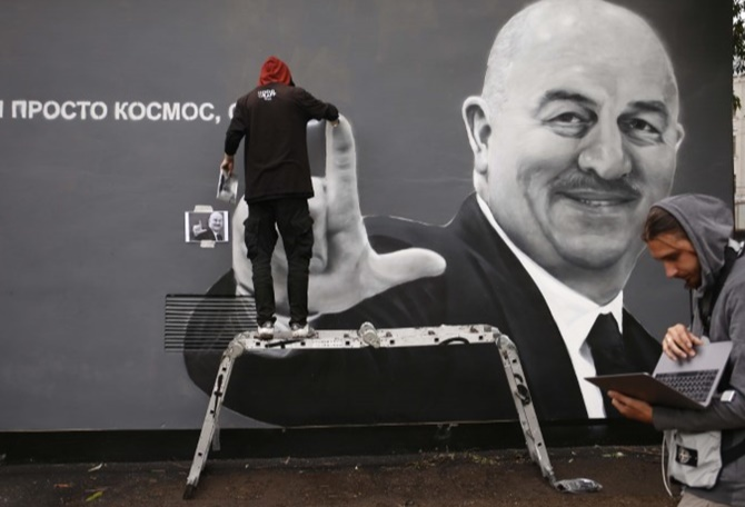World Cup diary: Russia coach wins graffiti honour