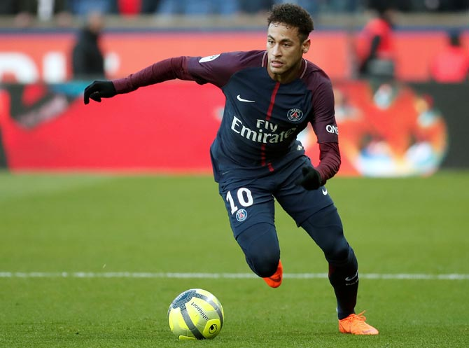 Neymar joined PSG from Barcelona for a world record 222 million euros ($249 million) in 2017