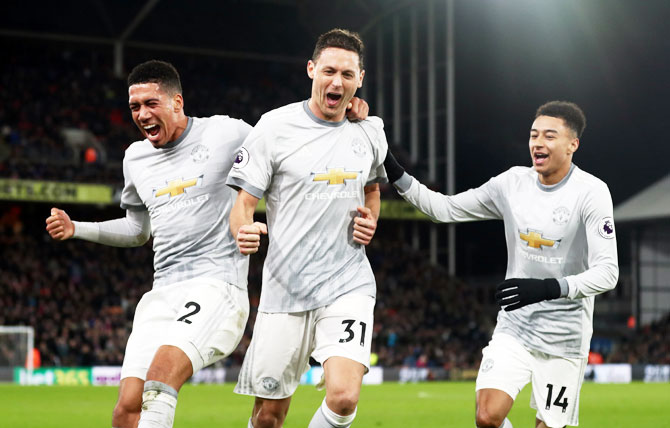 EPL PHOTOS: United pull off win at Palace in five-goal thriller