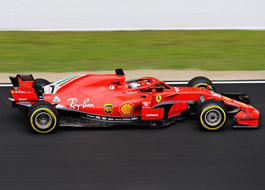 Kimi Raikkonen of Ferrari during testing at Circuit de Barcelona-Catalunya, Montmelo