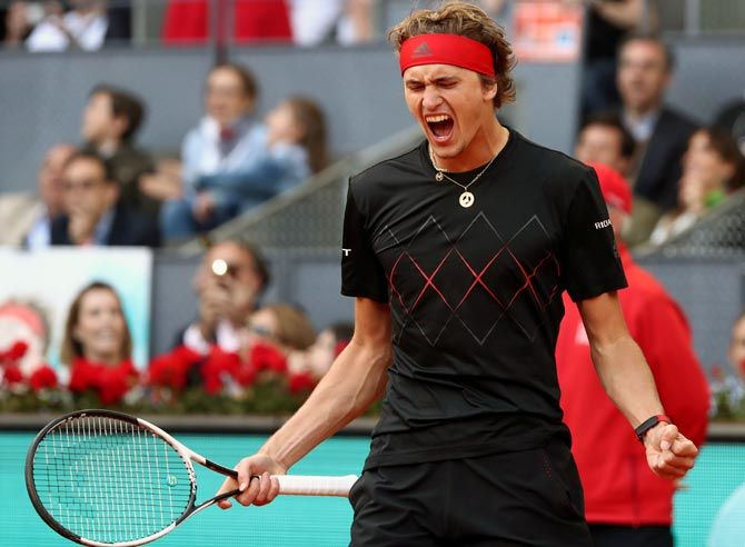 Zverev has struggled with his serve for most of the season but looked in complete control against Canadian Auger-Aliassime, winning 25 of his 27 first-serve points