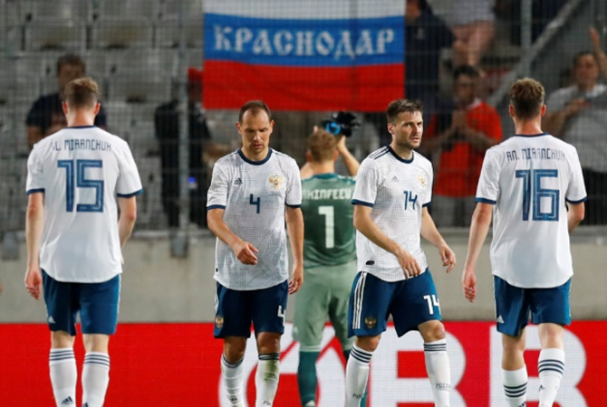 Hosts Russia lowest ranked among teams at FIFA World Cup