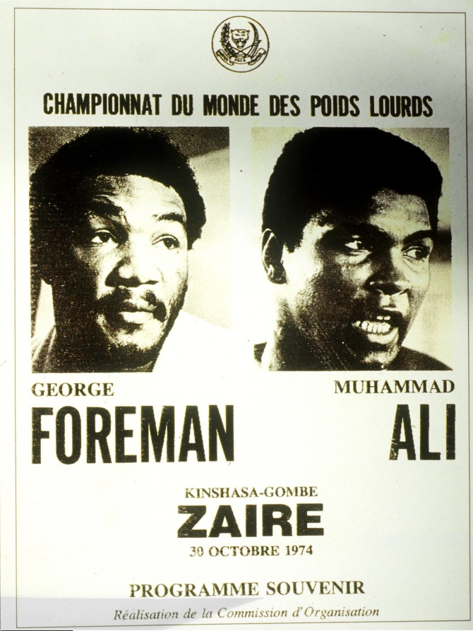 The boxing programme promoting the World Heavyweight Championship between George Foreman and Muhammad Ali