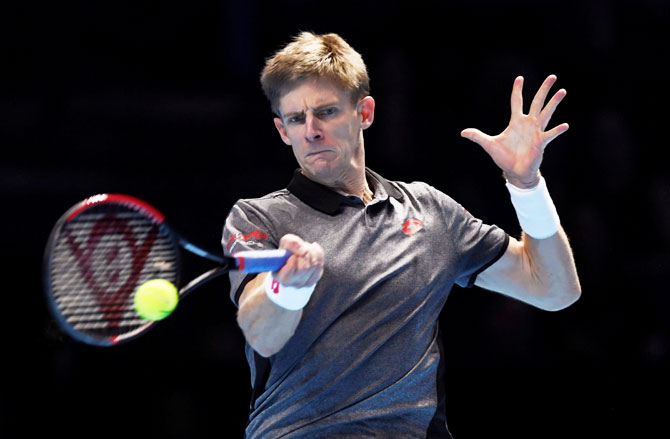 Debutant at the ATP Tour Finals, Kevin Anderson outplayed Dominic Thiem in their opening encounter on Sunday