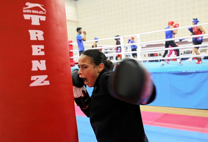 France's Amina Zidani trains during her practice session ahead of the Women's World Championships in New Delhi (Image used for representational purposes).