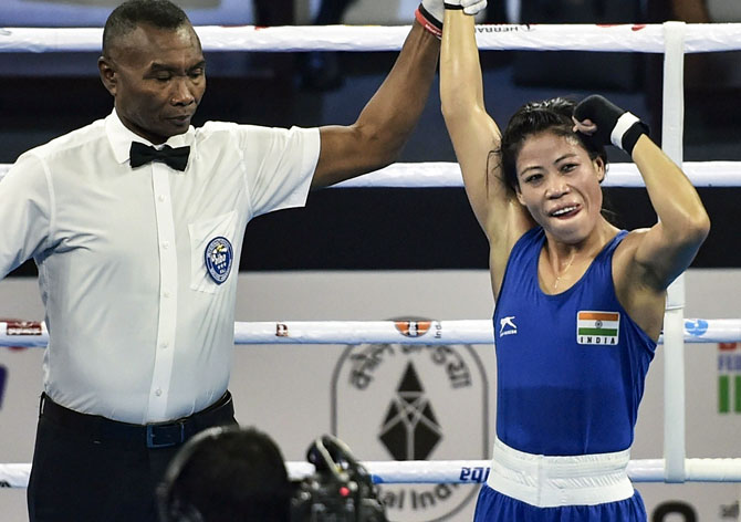 Mary Kom is placed top of the charts in the 48kg division with 1700 points