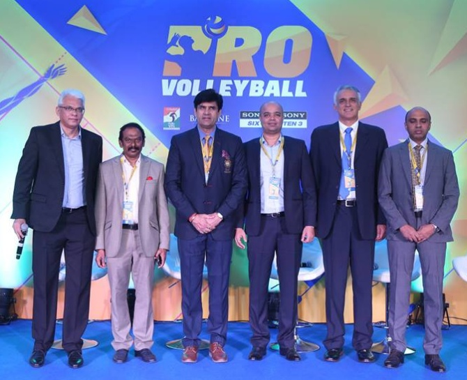 The Pro Volleyball League teams and their owners were unveiled in Mumbai