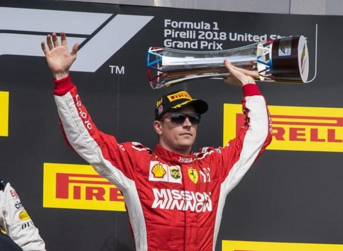 Rediff Sports - Cricket, Indian hockey, Tennis, Football, Chess, Golf - US Grand Prix: Raikkonen puts Hamilton's fifth title on hold