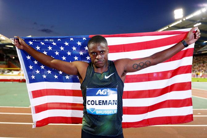 Coleman sets season's best to win Diamond League sprint