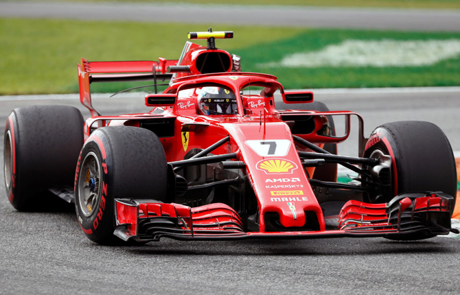 Rediff Sports - Cricket, Indian hockey, Tennis, Football, Chess, Golf - Raikkonen takes pole in Italy with F1's fastest ever lap