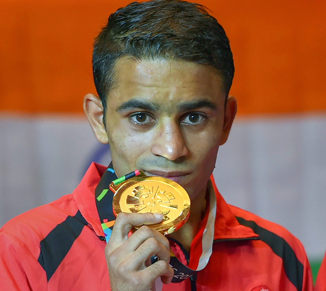 India @ Asiad: Panghal punches his way to glory; Bridge duo ace gold