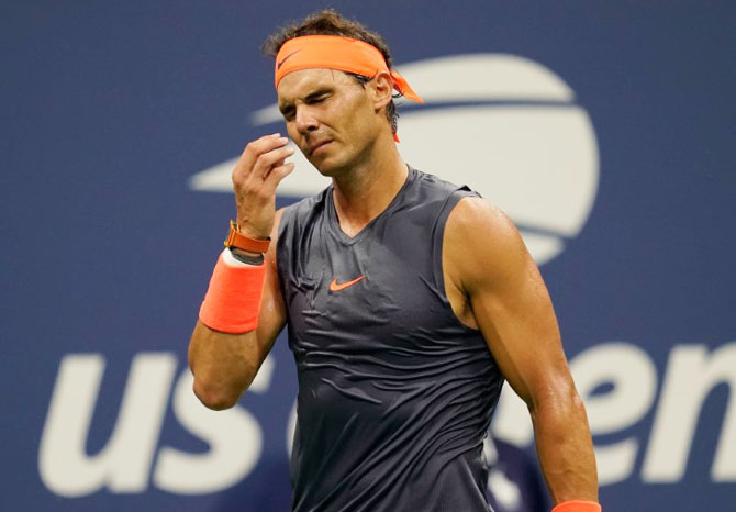 Rafael Nadal could not believe himself when he lost points and the first game 0-6