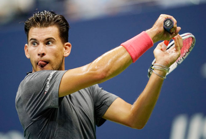 Dominic Thiem was a picture of perfection as he 'bagelled' in the first set