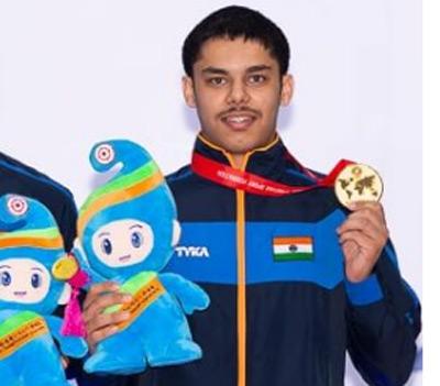 Vijayveer wins 3rd gold at Jr Shooting World Cup