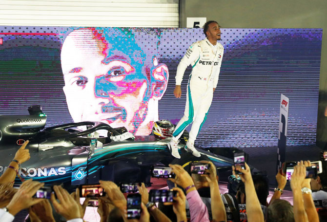 Rediff Sports - Cricket, Indian hockey, Tennis, Football, Chess, Golf - 'Complete machine' Hamilton offers no comfort for Ferrari