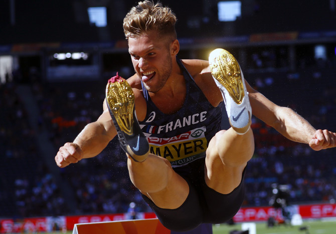 Kevin Mayer is the first Frenchman to hold the decathlon world record