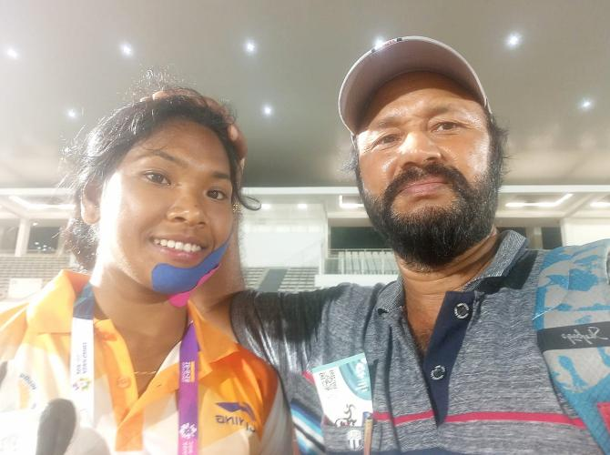 Rediff Sports - Cricket, Indian hockey, Tennis, Football, Chess, Golf - How Swapna Barman became the toast of Asia