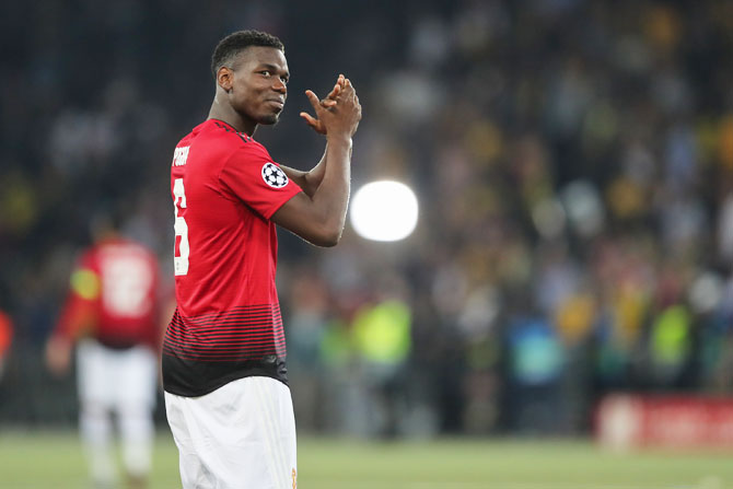 Manchester United's Paul Pogba has been United's stand-in captain for three games when regular skipper Antonio Valencia has been missing