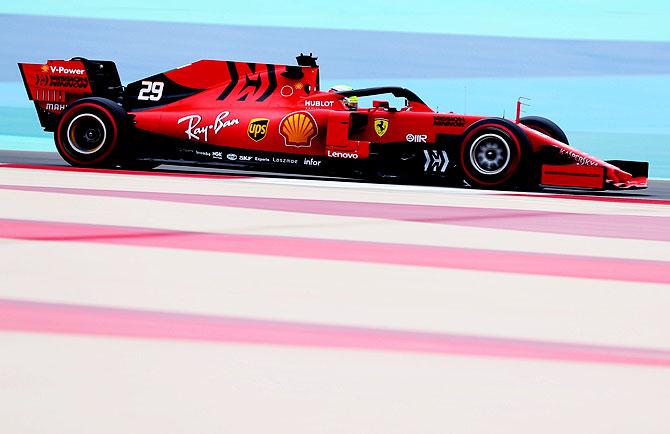 Pix Mick Schumacher Tests With Ferrari In Bahrain Rediff Com
