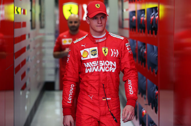 Mick Schumacher, son of seven times world champion Michael, made his Formula One test debut with Ferrari at the Bahrain circuit in April this year