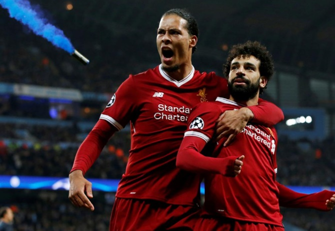 Virgil Van Dijk's (left) ability to pick a pass means Liverpool can turn defence into attack in the blink of an eye