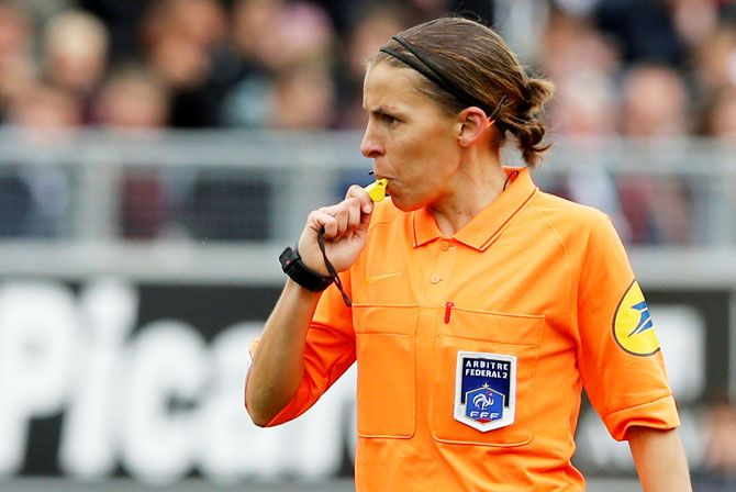 Stephanie Frappart, the only referee from France who will be officiating at the Women's World Cup to be held in the country from June 7 to July 7, was also the first woman to officiate a Ligue 2 (second-tier) match