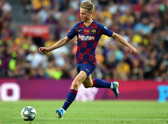 De Jong joined Barca from Ajax Amsterdam last year for 75 million euros ($83.81 million) and has appeared in 27 of their 30 league games this season.