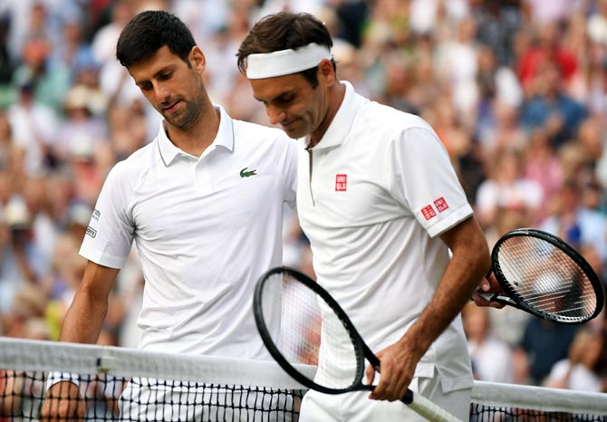 US Open: Djokovic, Federer in same half