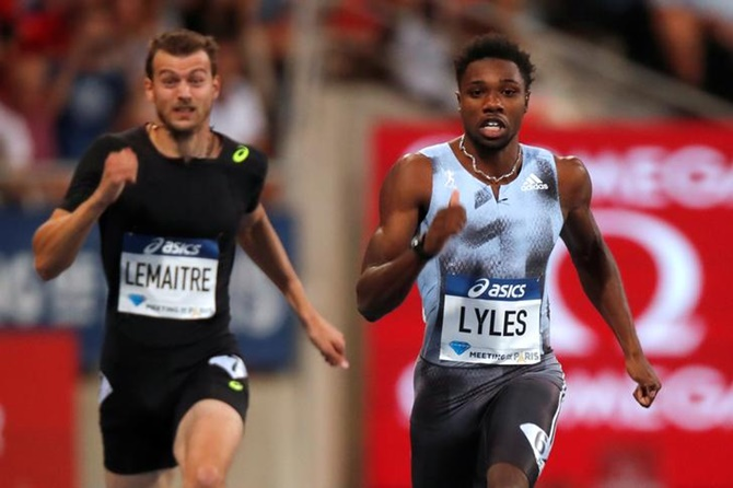 Lyles runs year's second fastest 200m in Paris