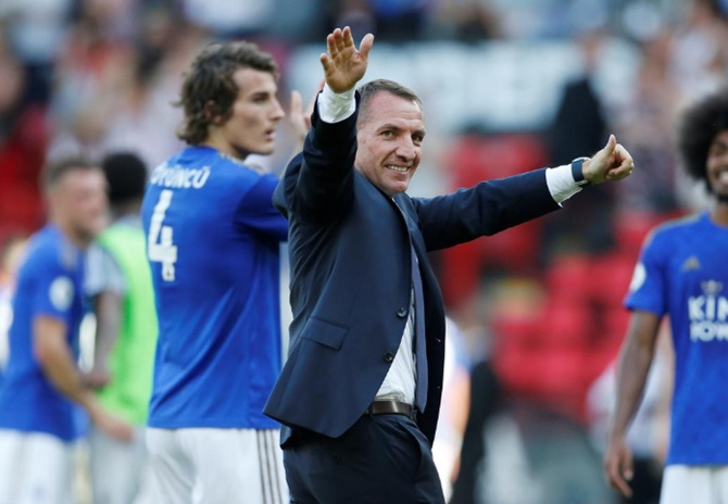 Leicester City manager Brendan Rodgers