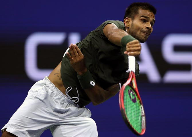 Sumit Nagal had stretched 20-time Grand Slam Champion Roger Federer to four sets in opening round of the US Open in August.